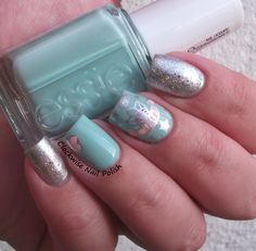The Clockwise Nail Polish: Essie Mint Candy Apple & by Dany Vianna Moondust