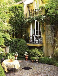 Patio from Country French Magazine