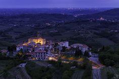 Smartno at blue hour, Goriska brda wine region. Photo by Leni Ozis. #slovenia #photography #trips4photos