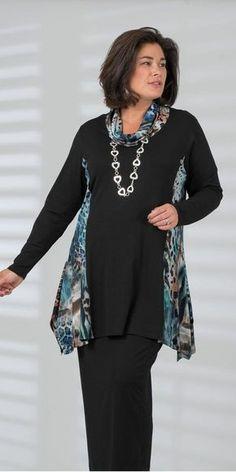 Moda Mujer Madura Outfits For 2019 Sewing Clothes, Diy Clothes, Boho Fashion, Womens Fashion, Fashion Styles, Winter Fashion, Fashion Tips, Moda Plus Size, Fashion Over 50