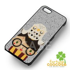 Art harry potter and hedwig -ssrw for iPhone 4/4S/5/5S/5C/6/6+,samsung S3/S4/S5/S6 Regular/S6 Edge,samsung note 3/4