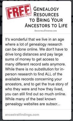 http://ancestralfindings.com/free-genealogy-resources-bring-ancestors-life/