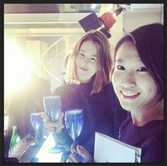 Last night again at Grey Goose x Be convertible party with dear guest from Vogue China...Camilla chica!