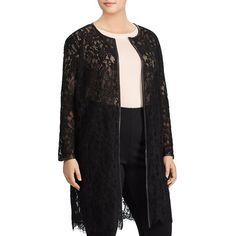 Lauren Ralph Lauren Plus Lace Duster Jacket ($308) ❤ liked on Polyvore featuring plus size women's fashion, plus size clothing, plus size outerwear, plus size jackets, black, ralph lauren jacket, lightweight jacket, layered jacket, duster jacket and lace jacket