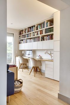 Home Library Design, Home Room Design, Home Office Design, Home Office Decor, House Design, Home Decor, Small Office Design, Home Office Layouts, Home Office Space