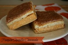 Awesome, easy recipe for Pumpkin Sopapilla Cheesecake - so easy and SO good!! Made with Crescent Rolls.....