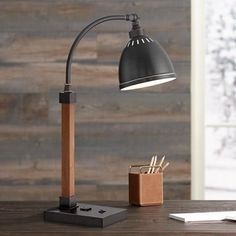 Lite Source Maurizio Electrical Outlet Bronze Desk Lamp