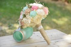 Hey, I found this really awesome Etsy listing at https://www.etsy.com/listing/207107529/custom-large-wedding-bridal-bouquet-sola