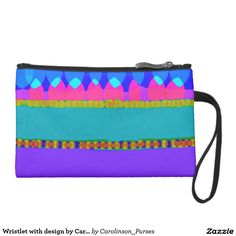 Wristlet with design by Carole Tomlinson