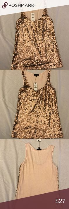 Express sequin tank top Today's sale! Let me know what you want to pay (within reason) for this amazing tank?!   Stunning NWT tank top from Express Express Tops Tank Tops