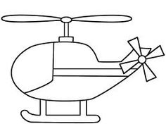 Helicopter Coloring Pages Free Printable for Kids Birthdays