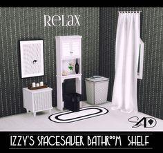 2t4 Izzy's Spacesaver Bathroom Shelf (UPDATED)   Sims 4 Designs