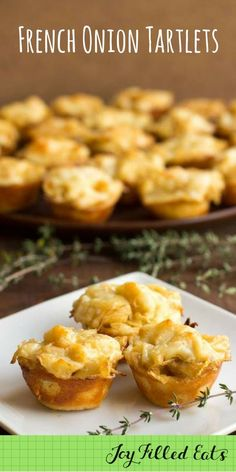 French Onion Tartlets - Low Carb, Grain Free, THM S If you like French onion soup you will love my Mini French Onion Tarts. With caramelized onions, toasted cheese, & golden dough they are a perfect appetizer. #ad @Finlandia Cheese via @Joy Filled Eats - Gluten & Sugar Free Recipes