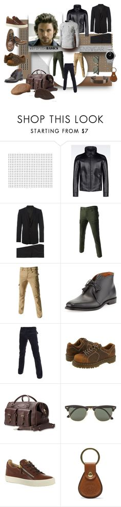 """He's got it all"" by michelletheaflack ❤ liked on Polyvore featuring Armani Collezioni, Dolce&Gabbana, TheLees, Ralph Lauren Black Label, Dr. Martens, Movado, Ray-Ban, Giuseppe Zanotti, Ghurka and Le Gramme"