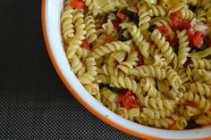 Mediterranean Pasta Salad, really easy! 5 ingredients, mommy recipe project
