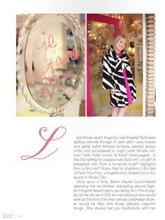 Rue Magazine - A Frou Frou Fairytale ~ Frou Frou Fashionista - Luxury Lingerie Blog for Faire Frou Frou