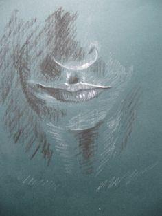 Drawing, chalk