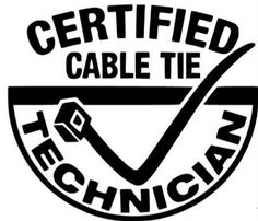 Zip Tie Technician Funny Import JDM Car Truck Decal Sticker