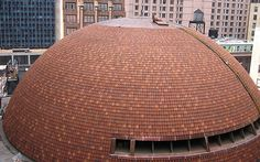 Useful Roofing Advice If you find your roof leaking during rainy weather, don't try and fix the problem until the weather gets better. Clay Roof Tiles, Brick Architecture, Cool Roof, Dome House, Roofing Contractors, Round House, Brick And Stone, Roof Repair, New Homeowner