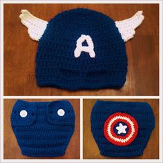 Butterfly's Creations: Masked Beanies: Captain America. FREE pattern for all sizes!