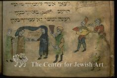 Yahuda Haggadah - Moses' marriage with Zipporah #tzipporah