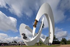 *drools* > Gerry Judah has created the Lotus sculpture for the 2012 Goodwood Festival Of Speed in West Sussex, England.