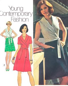 1970s Dress Pattern Simplicity 6262 Young by paneenjerez on Etsy