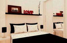 A arquiteta Camila Moreno foi chamada para transformar a quitinete onde o cliente morava sozinho em uma moradia para ele e sua noiva. O quarto de casal, de 9 m², virou um ambiente separado da sala.
