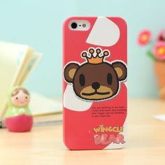 This is a brand New Wingcle Bear Wingcle Bear iphone 5 case Matte hard textired ultra thin skin protective case cover for iphone 5  http://www.case2case.net/wingcle-bear-iphone-5-case-brown-head.html