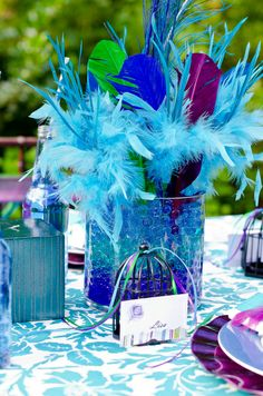 """Photo 1 of 19: Peacock Feathers / Dinner Party """"Peacock Feather Dinner Party"""" 
