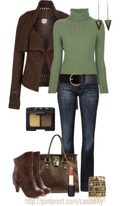 """Chanel Vintage Cowl Neck Sweater & Rustic Jacket"" by casuality on Polyvore"