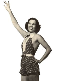 1930s 1940s Swimsuit Sewing Pattern