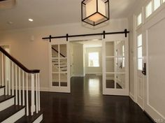 Installing interior barn door hardware can transform the look of your room. Read these steps in buying interior barn door hardware. Interior Barn Doors, Home Interior, Interior French Doors, Interior Design, Door Alternatives, Barn Door Designs, The Doors, Entry Doors, Sliding Doors