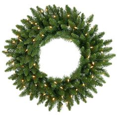 36 PreLit Camdon Fir Artificial Christmas Wreath  Clear Lights *** This is an Amazon Affiliate link. Continue to the product at the image link.