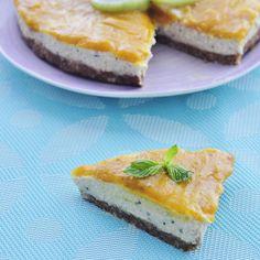 Mango Kiwi Cheesecake Recipe - Vegan Family Recipes