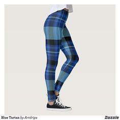 Blue Tartan Leggings
