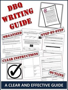 Dbq checklist teachers pay teachers pinterest students social dbq writing guide a clear 5 page step by step guide to fandeluxe Choice Image