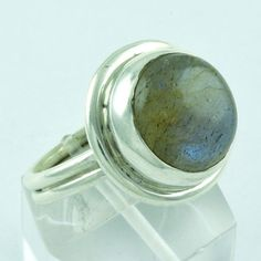 CLASSIC DESIGN !! 925 STERLING SILVER RING LABRADORITE JEWELRY S.8 US R2104…