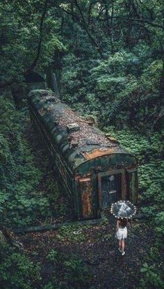 May 2019 - Would you like to visit extraordinary places? Or would you rather just look at beautiful places? Here you'll find everything your heart desires. See more ideas about Beautiful places, Landscape and Places. Abandoned Train, Abandoned Buildings, Abandoned Places, Abandoned Castles, Haunted Places, Abandoned Mansions, Inference Pictures, Belle Photo, Mother Nature