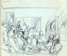 Artist Felix Tolpolski was sent to report about both the Democratic and Republican national conventions of Life Drawing, Figure Drawing, Drawing Reference, Magazine Illustration, Illustration Art, Illustrations, Kings Man, Artist Sketchbook, Journalism