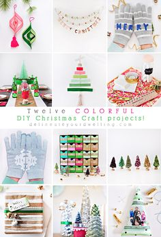 Twelve Colorful DIY Christmas Craft Projects - Delineateyourdwelling.com