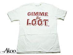 "【AKOO】【アクー】 Tシャツ ""GIMME THE LOOT"" TEE ホワイト【B系】【US】【ヒップホップ】【Hip-Hop】【インポート】【アメリカ】【限定】【T.I.】【アクー】【白】【半そで】【サウス】【hiphop】【ストリート】【スケーター】【楽天市場】"