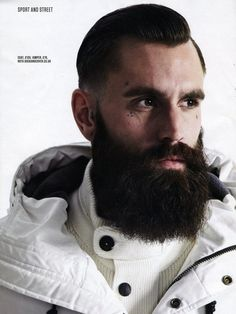 Medium_portrait Bearded Tattooed Men, Bearded Men, Ricki Hall, Hipster Beard, Great Beards, Beard Tattoo, Great Hair, Beard Styles, Model Agency