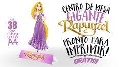 Centro de mesa Rapunzel para você baixar, imprimir em casa e montar, super fácil e barato de fazer dá um charme a mais na sua decoração, confira: