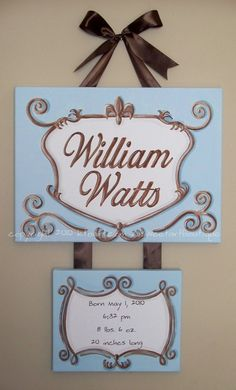 Custom canvas letter name sign wall art baby by sweetartboutique, $65.00
