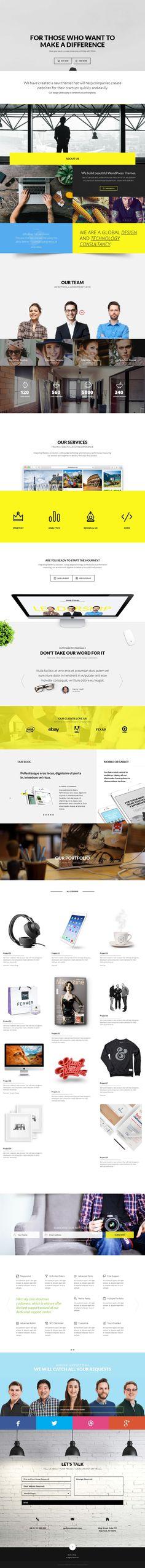 Troia — Responsive One/Multi Page Theme #webdesign #design