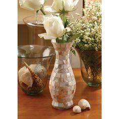 MOTHER OF PEARL SLIM FLOWER VASE 8″