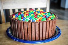 kit-kat cake :: angry bird themed birthday party