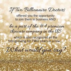 Why NOT you? NOW is the time to take full advantage of partnering with the Doctors who created Proactive by starting your very own Rodan + Fields franchise...Get into this once in a lifetime ground-floor opportunity now! http://lesleyedwards.myrandf.com/