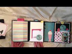 #papercraft #scrapbook #minialbum. Happy Days Mini Album